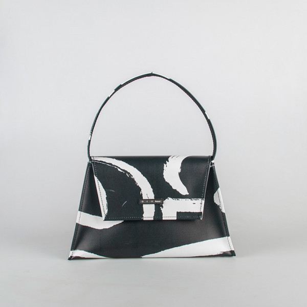 TOTE BAG KELLY BLACK AND WHITE