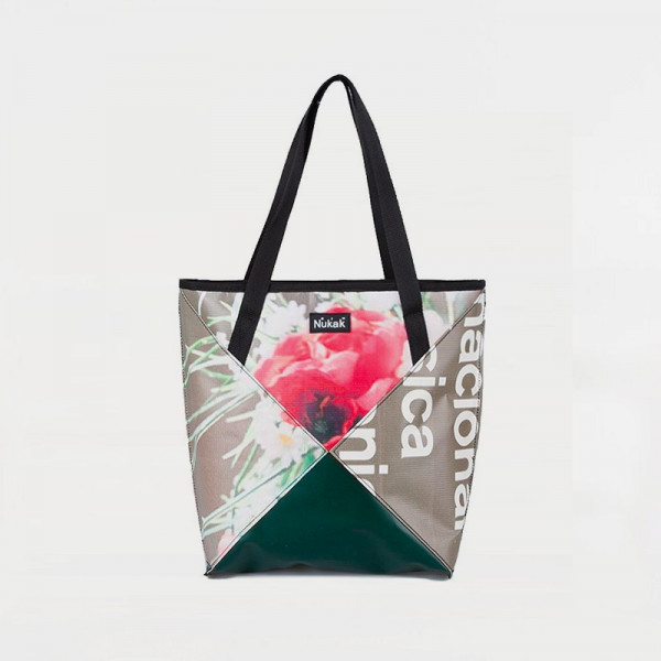 TOTE BAG TRIANGLE FLOWERS