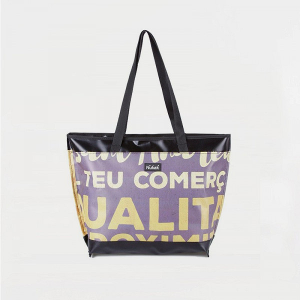 TOTE BAG PURPLE AND YELLOW