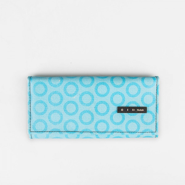 WALLET MIEL BLUE CIRCLES