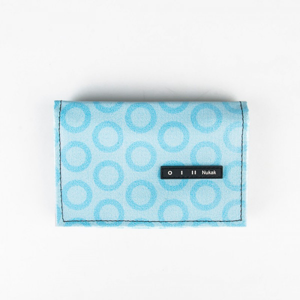 WALLET PEPPER BLUE CIRCLES