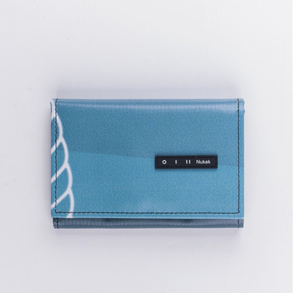 WALLET PEPPER BLUE AND YELLOW LETTERS