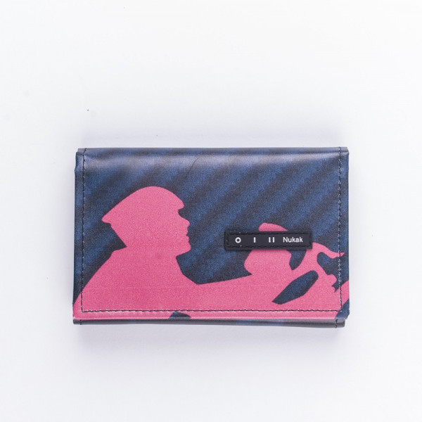 WALLET PEPPER BLACK AND PINK CYCLE