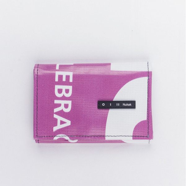 WALLET PEPPER PINK WITH WHITE LETTERS