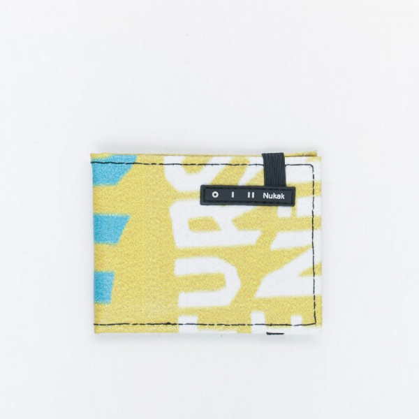 WALLET VESKI YELLOW LETTERS