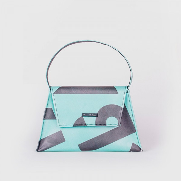 TOTE BAG KELLY BLUE WITH LETTERS