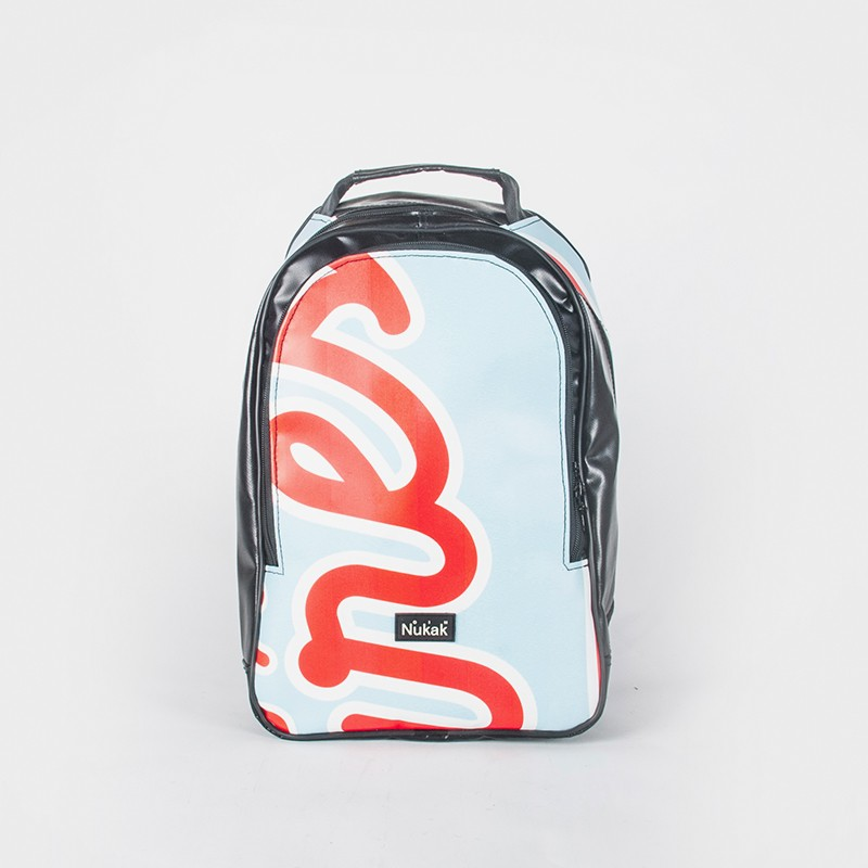 BACKPACK MOSAIC ORANGE LETTERS