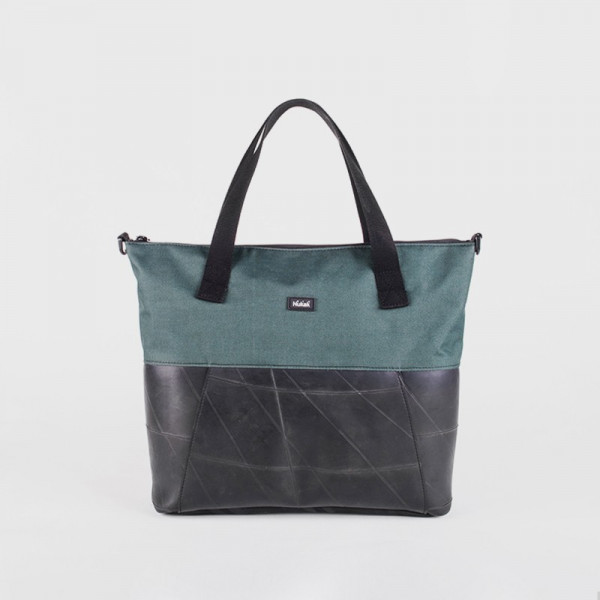 TOTE BAG CICA GREEN TRUCK TIRES