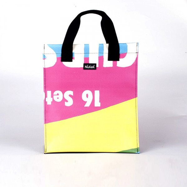 TOTE BAG VIENETTA PINK & YELLOW