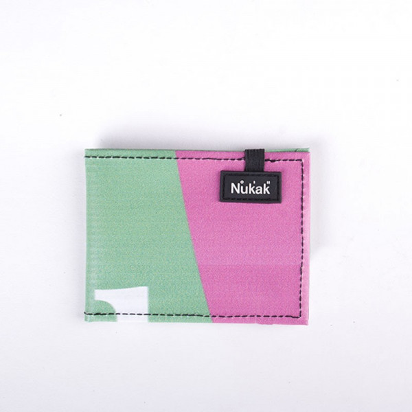 WALLET VESKI GREEN & PINK