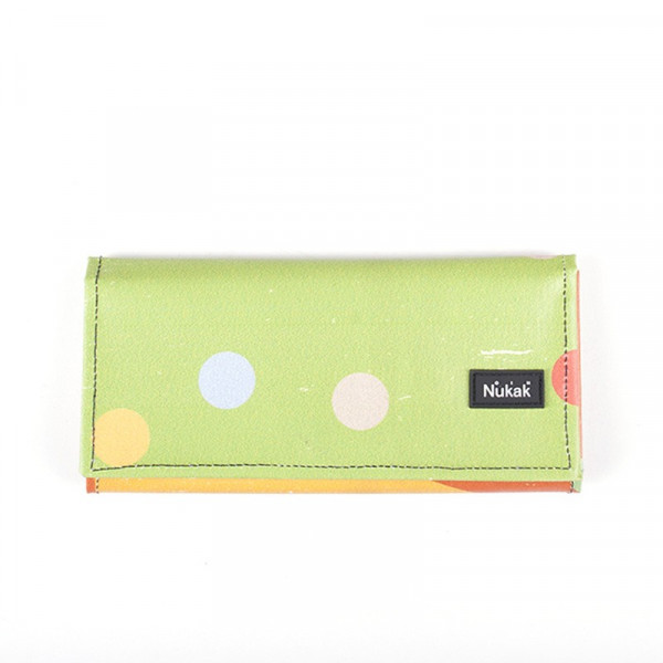 WALLET MIEL GREEN TOPOS