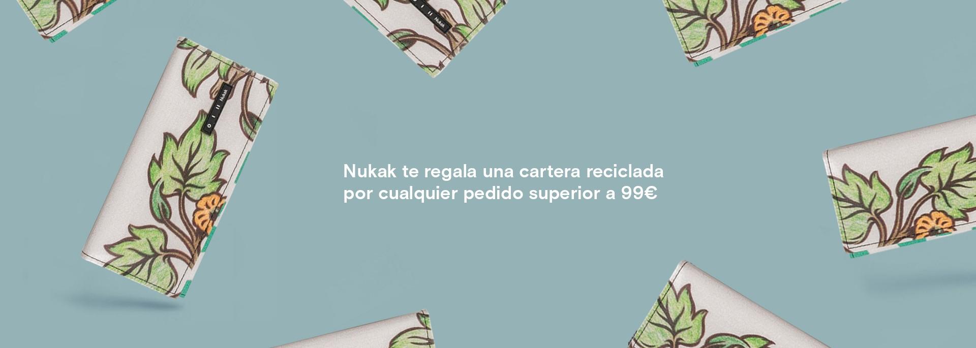 Un regalo de Nukak de cartera reciclada para ti por cualquier pedido superior a 99€